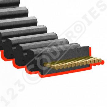 Courroie de tondeuse double dentée 1440-S8M20DD qualité professionnelle