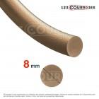 Courroie ronde en cuir diamètre 8 mm