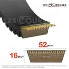 Courroie de variateur norme ISO 52x16x1525