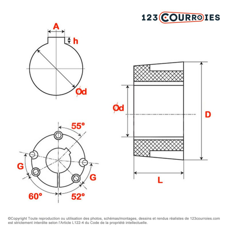 poulie moteur electrique arbre 19 bande transporteuse caoutchouc. Black Bedroom Furniture Sets. Home Design Ideas