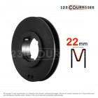 Poulie trapézoïdale diamètre 224 mm, 2 gorges SPC224/2MA