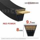 Courroie trapézoidale lisse Optibelt Red Power 3 SPZ3150 Ld