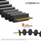 Courroie cote pouce double denture 187DL075