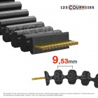 Courroie cote pouce double denture 210DL050