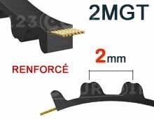 Nos modèles de Courroie dentée 2MGT pas 2mm (renforcée)