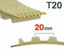 Nos modèles de Courroie dentée T20 pas 20mm